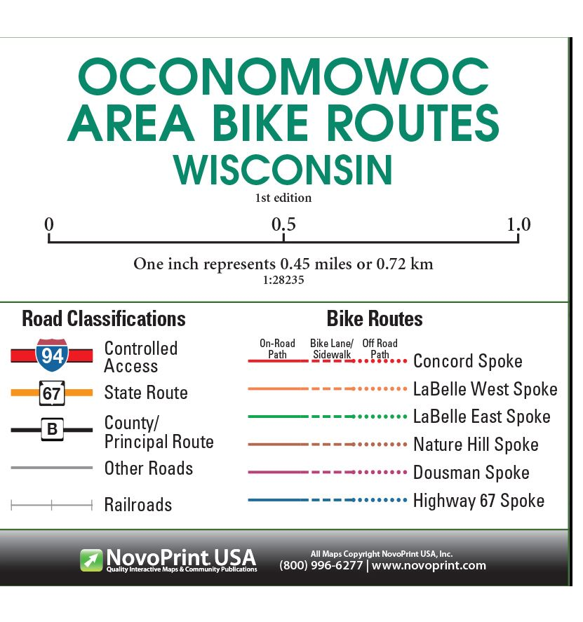 Oconomowoc WI BIKE MAP KEY