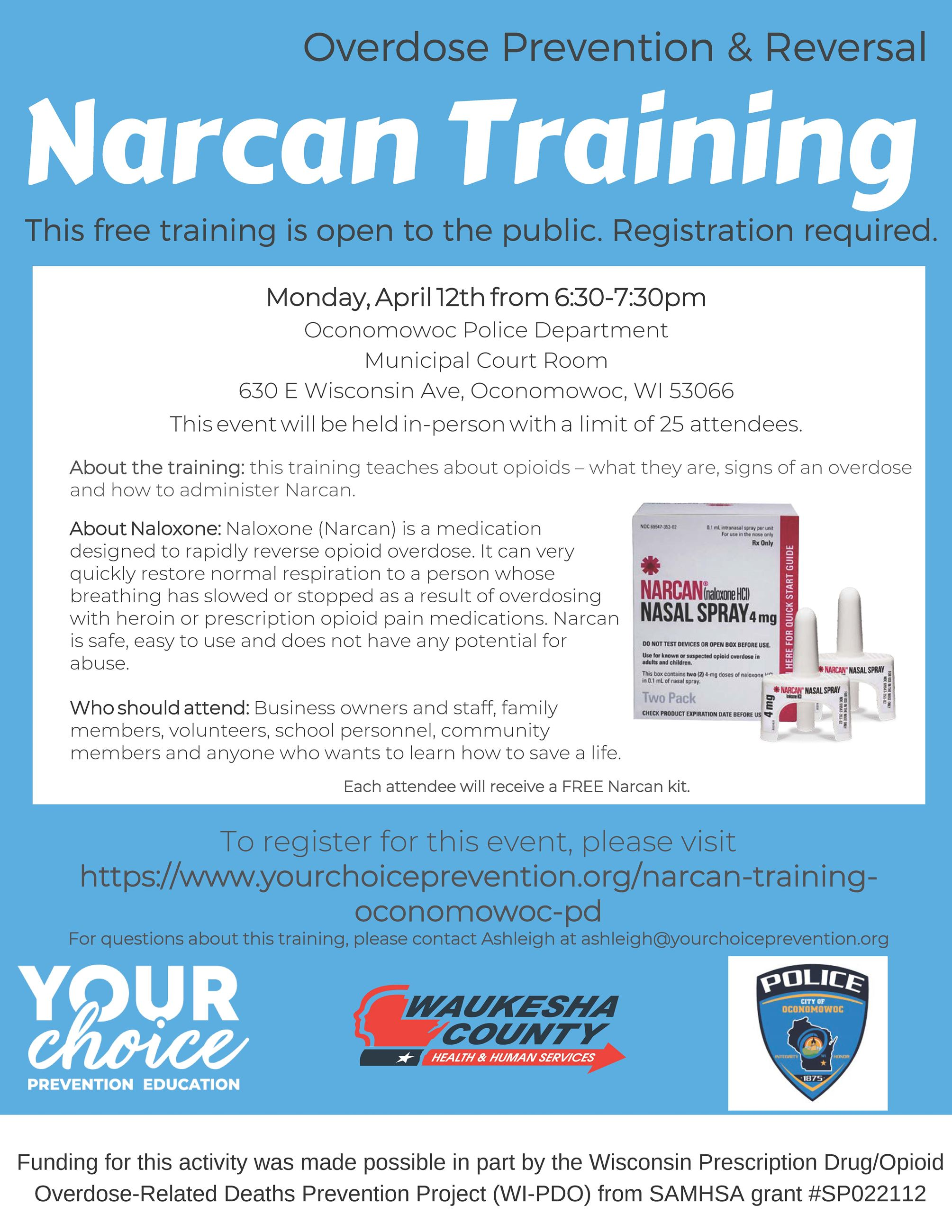 4-12-21 Narcan Training Flyer